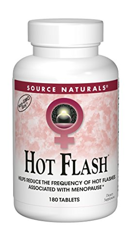 Source Naturals Hot Flash - Helps Reduce The Frequency of Hot Flashes Associated with Menopause, Non-GMO Soy - 180 Tablets