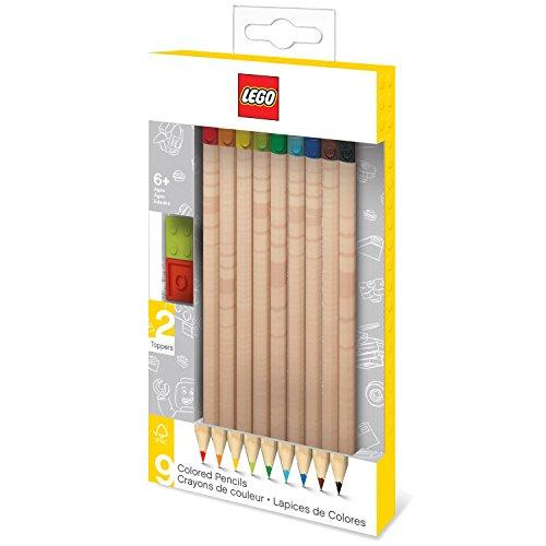 Lego LE51515 - Buntstifte 9er Set mit 2 Bausteintoppern