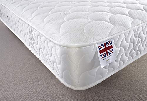 New Luxury Quilted 3ft Single 4ft Small Double 4ft6 Double 5ft King Size Medium Soft Mattress (Single 90x190cm)
