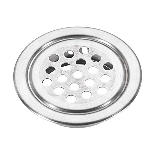 qfkj Prácticas 30 rejillas de ventilación redondas Soffit Circle Mesh Air Louver para gabinetes de cocina, caja de zapatos, armario de acero inoxidable (diámetro: 19 mm)