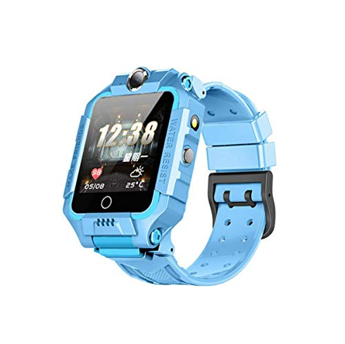 linyingdian Kinder Smartwatch für Kinder mit Telefonfunktion, SIM, Wasserdicht, Handy Touchscreen, kinderuhr Spiel Smartwatch mit Kamera Voice Chat Telefon SOS smart Watch Kinder Uhr Kinder (Blau)