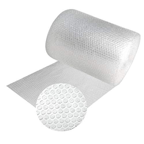 Papel burbujas embalaje, 50 cm de ancho x 40 m linealesrollo de plastico de triple capa, mayor resistencia y durabilidad, ideal para acolchar y amortiguar cualquier producto.