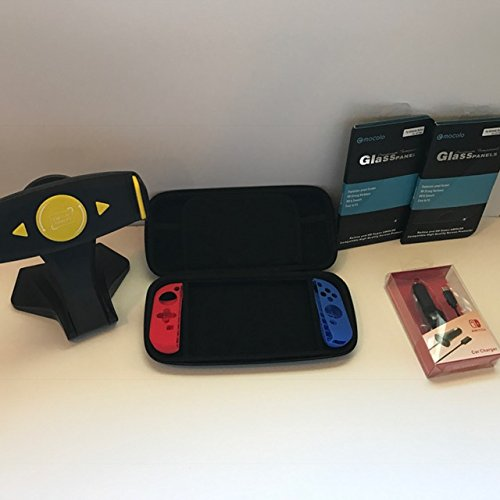 Nintendo Switch Survival Kit(Nintendo switch game case, silicone covers, tempered glass protectors,...