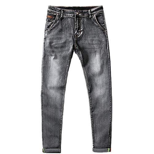 N\P Pantalones vaqueros ajustados elásticos casuales slim fit pantalones de mezclilla pantalones de hombre