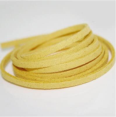DANMO 4Mm Cordón de Cuero Plano Cuerda Hilo Hilo Fornituras de Encaje Pulsera Collar Accesorios Cintas