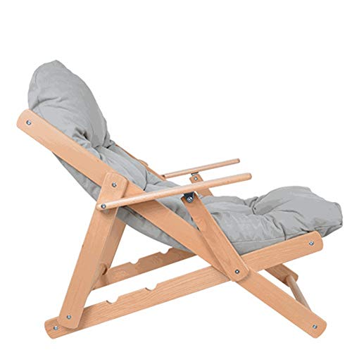 DANDAN-Deckchairs Chaise Lounge Klappbüro Mittagspause Siesta Bett Massivholz Balkon Lounge Stuhl Nordic Einfache Schwangere Faule Couch Stuhl Lesestuhl
