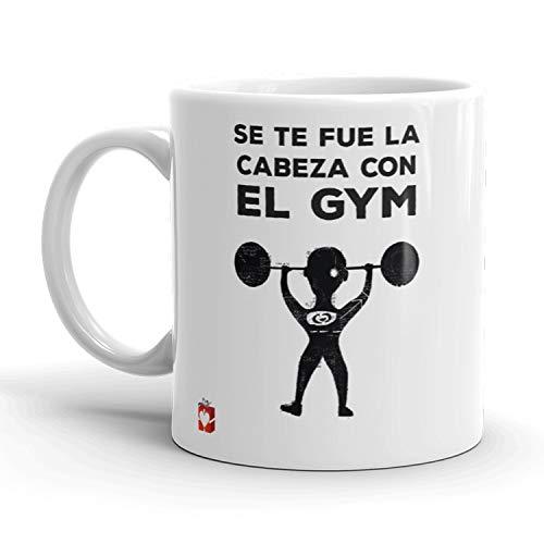 Kembilove Tazas de Desayuno Locas – Tazas de Café Muy Divertidas y Graciosas con Mensaje Se te fue la Cabeza con el Gym – Tazas Originales de cerámica de 350 ml