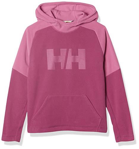 Helly Hansen Kids' Big Juniors Daybreaker Fleece Hoodie Jacket, 673 Magenta Haze, Size 8