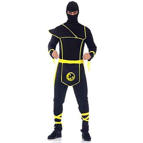 Fantasia Ninja Adulto 945165-m Sulamericana Fantasias Preto/amarelo Adulto