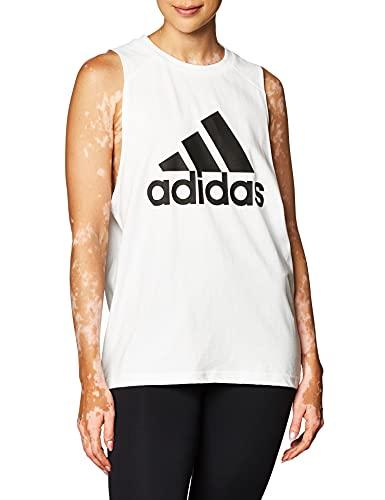 adidas W Bos Co Tank, Canottiera Sportiva Donna, White, L