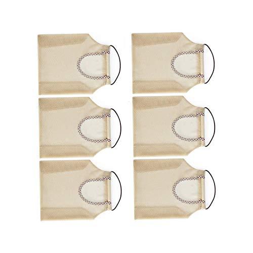 BANGSUN Bolsa de malla reutilizable para almacenamiento de cocina para colgar bolsas de la compra multifunción para verde 6 piezas