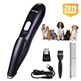 VISSON Dog Clippers - Dog Grooming Kit for Small Dogs and Cats - Professional Pet Hair Trimmers - USB Rechargeable Low Noise Electric Clippers for Hair Around Paw, Face, Eyes, Ears, Rump