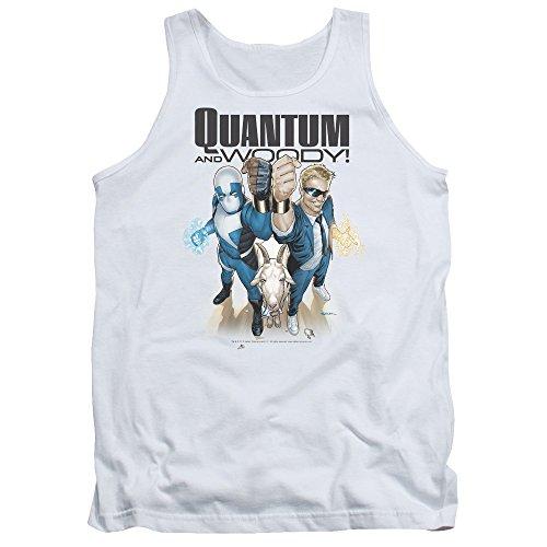 Quantum And Woody - - Débardeur pour hommes, XX-Large, White