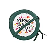 Chumbak Strong is The New Pretty Round Women's Sling Bag (Green)