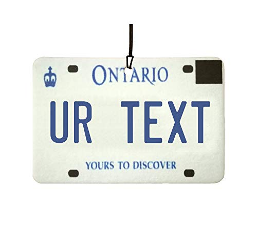 Ali Air Freshener Personalisierter Ontario Nummernschild Auto Lufterfrischer