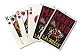 Maryland - Crab Shaped Flag - Lacrosse Stick 104312 (Playing Card Deck - 52 Card Poker Size with Jokers)