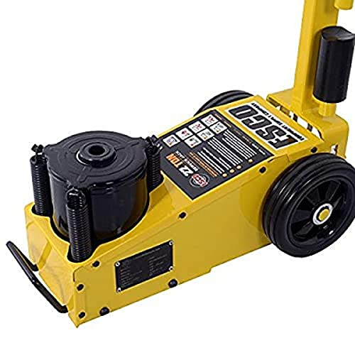Esco 10390 22 Ton Air/Hydraulic Floor Service Jack Axle Jack with Wheels Lift Bus Truck Commercial, 44000 Pounds Load Capacity