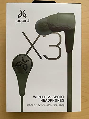 Jaybird X3 in-Ear Wireless Bluetooth Sports Headphones – Sweat-Proof – Universal Fit...