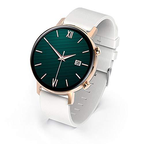 FMSBSC Smartwatch Pantalla de 1.3 Pulgadas Reloj Inteligente con Pulsómetros para Mujer Hombre, Pulsera de Actividad Inteligente con Monitor de Sueño/Oxigeno Contador de Caloría Cronógrafo,Blanco