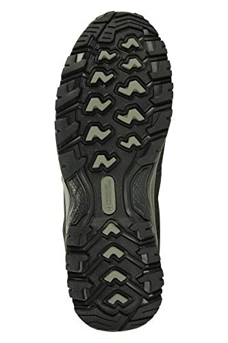 Mountain Warehouse Voyage Mens Waterproof Mid Hiking Boots – Suede & Mesh Upper, EVA Midsole, High Rise Hiking Boots…