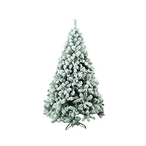 Alberi di Natale Artificiale della Neve floccati incernierato Abete Albero di Natale Artificiale di Natale Pino con Gambe in Metallo stabili, Decorazione di Festa, Verde (Dimensione : 1.2m)