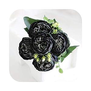 FLOWERS 1 Bouquet 9 Heads Artificial Peony Tea Rose Camellia Silk Fake Flores for DIY Home Garden Wedding Decoration
