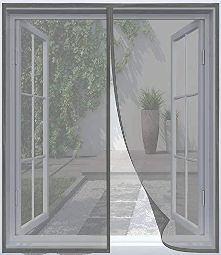 ARCOL Zanzariera Magnetica Finestra – Rete Fine Impenetrabile, 130x150 cm, di Design Minimal, Totalmente Magnetica, Zanzariera Finestra con Chiusura Automatica (Grigio)