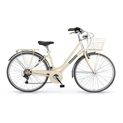 MBM Silvery, Bicicletta Donna, Giallo (Crema A07), 28'