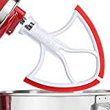 AIZARA 4.5-5 Quart Flex Edge Beater for KitchenAid Tilt-Head Stand Mixer, Flat Beater Blade with Flex Edge Bowl Scraper(Red)