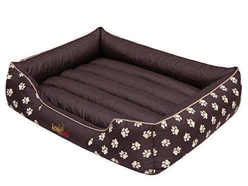 Hobbydog PREBWL3 Prestige Panier pour Chien Motif Pattes Marron Taille XXL 108 x 88 cm