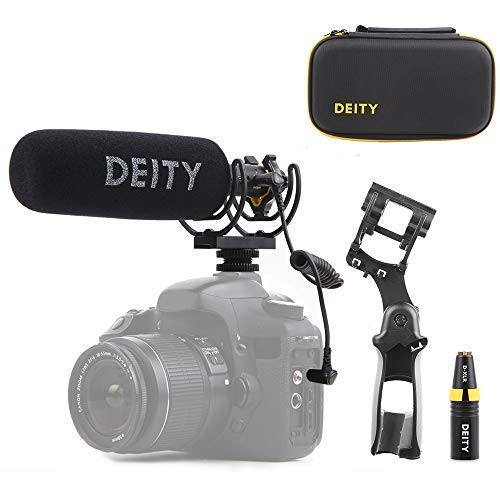 Deity V-Mic D3 Pro Location Kit Super-Cardioid Directional Shotgun Microphone with Rycote Duo-Lyre Shock Mount and PERGEAR Cloth for DSLRs, Camcorders, Smartphones, Tablets, Handy Recorders, Laptop Broadcast Grade Shotgun Microphone