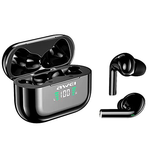 Auriculares Inalambricos, T29P Auriculares Bluetooth 5.1 In-Ear Auriculares Deportivos con Microfono, TWS Sonido Estéreo, IPX6 Impermeable, Cascos Inalámbricos con Caja de Carga Portátil,Black