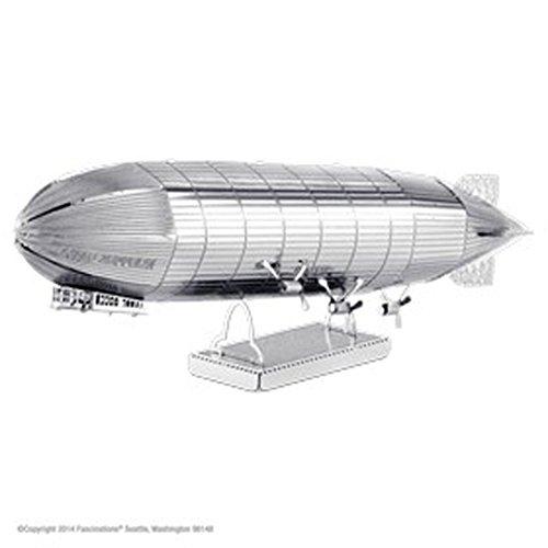 Fascinations MMS063 - Metal Earth 502504 - Graf Zeppelin, lasergeschnittener 3D-Konstruktionsbausatz, 2 Metallplatinen, ab 14 Jahren