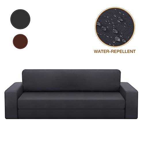SAWAKE Stretch Sofa Covers for 3 Cushion Couch, Waterproof Couch Slipcovers 2 Piece Couch Protector Covers for 72\