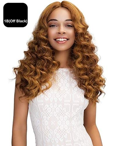 JANET COLLECTION SWISS LACE EXTENDED PART DEEP WIG – GABRIELA (1B (OFF BLACK))
