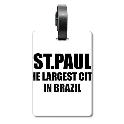 ST.Paul de grootste stad in Brazilië Cruise koffer tas Tag Tourister identificatie label