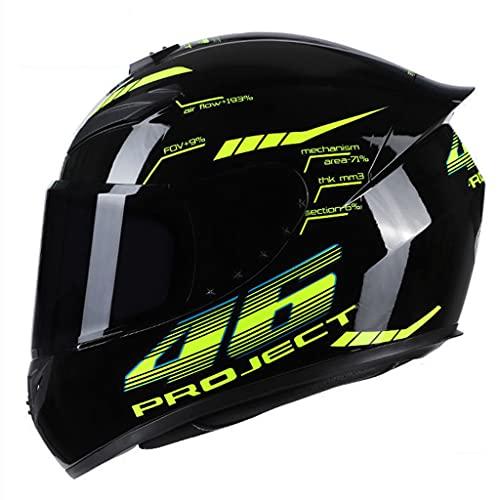 ユニセックスアダルトレーシングヘルメットオートバイヘルメットレンズ取り外し可能なインナーライナーモトクロスヘルメットフルフェイスヘルメット男性と女性のための防曇ヘルメットDOT認定、毒(ティーミラー)