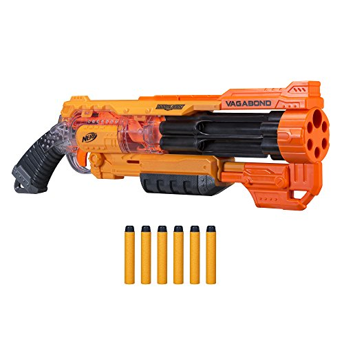 Nerf Vagabond Doomlands Toy Blaster with Rotating 6-Dart Barrel & 6 Official Elite Doomlands Darts for Kids, Teens, & Adults