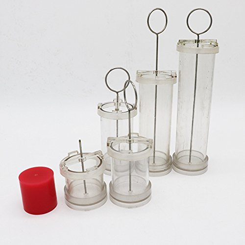 Absir DIY Handmade Candle Cylinder-Shape Wax Mold Scented Candle Making PC Tube Special for Wax Molding Flat head ¦µ6 * high 10cm