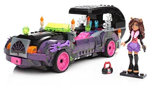 Mattel Mega Bloks CNF82 - Monster High Monster-Mobile, Bau- und Konstruktionsspielzeug