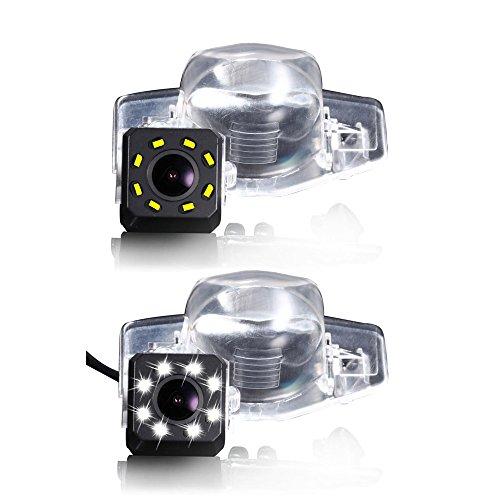 Caméra de recul 8 LED vision nocturne pour voiture - Grand angle de 170 ° - Couleur HD - Étanche - Pour Honda CRV/New Fit Sedan/Odyssey/Insight/Vezel HRV 2015/Jazz Crosstour