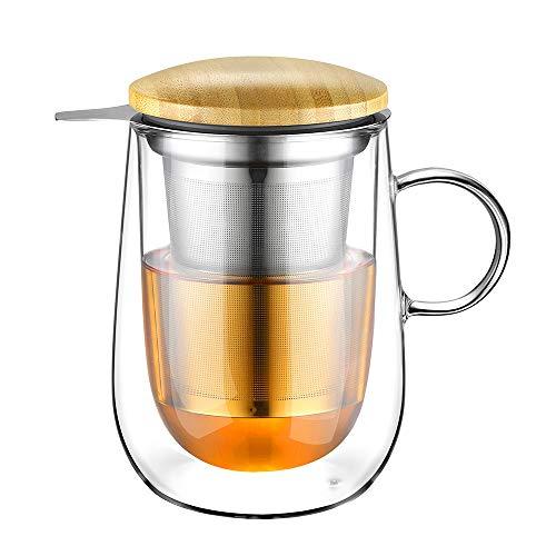 glastal glastal 430ml Doppelwandige Glas Teetasse Bild
