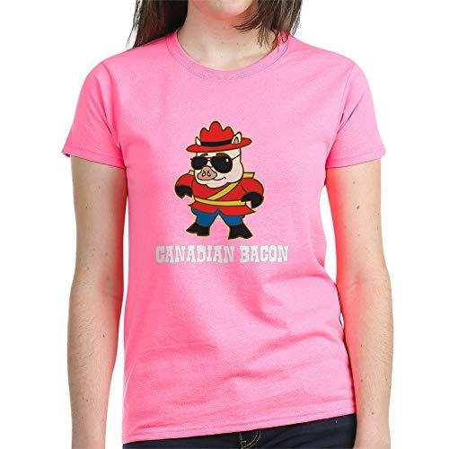 CafePress Canadian Bacon T Shirt Womens Cotton T-Shirt Pink
