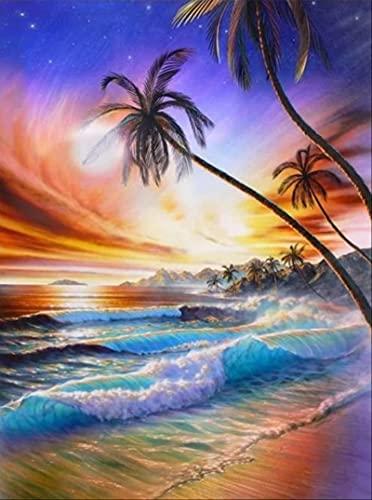 Pintura al óleo DIY por números paisaje pintado a mano dibujo lienzo pintura por números arte hecho a mano decoración del hogar A1 40x50cm