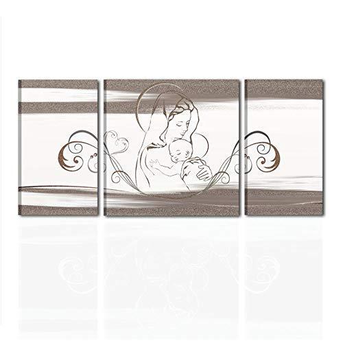 Cuadros cabecero pintados a mano Virgen con Niño para cama listo para colgar Dormitorio cabecero cama alta calidad,' Made in Italy - Mater Dei