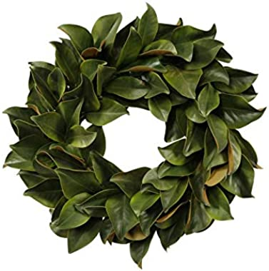 """Darby Creek Trading Classic Real Touch Magnolia Leaf Front Door Wreath 24"""""""