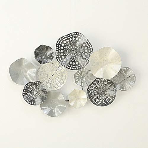 Home Collection Hogar Decoraciones Accesorios Interior Objetos Decorativos Circular para Colgar en la Pared Gris Blanco 90 cm