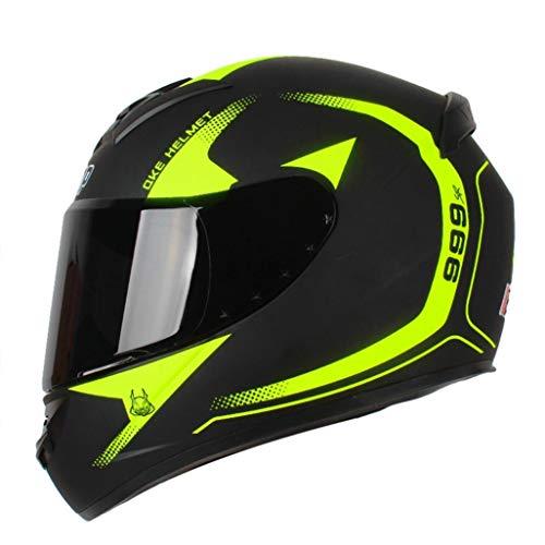 Hombres Mujeres Casco De Moto Universal Casco De Moto De Cara Completa Casco Anticolisión Abs Material Safety Racing Protection Caps