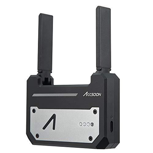 Accsoon CineEye 1080p WiFi-Videosender, drahtloser 5G HDMI-Videosender, 100 Meter Übertragungsentfernung, Unterstützung für Android und iOS, RGB, Falschfarben, Laden der 3D-LUT mit 3500-mAh-Akku