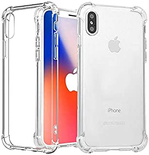 TERSELY Soft Clear Crystal Case for iPhone Xs/X, Flexible Ultra Slim TPU Bumper Case Cover for Apple iPhone Case with Shoc...